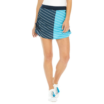 ROUCHED STRIPE SKORT