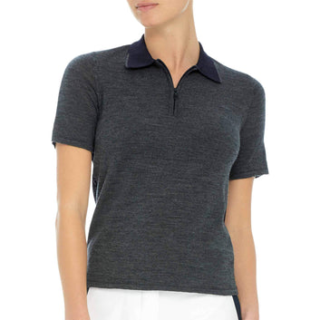 TWO TONE SWEATER POLO