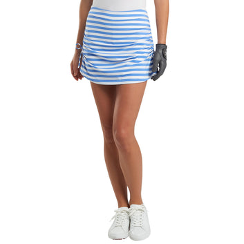 RUCHED STRIPED SKORT
