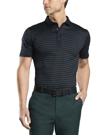 STRIPED ESSENTIAL POLO