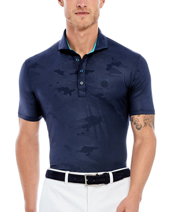 CAMO EMBOSSED POLO