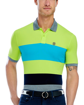 VARIEGATED STRIPE POLO