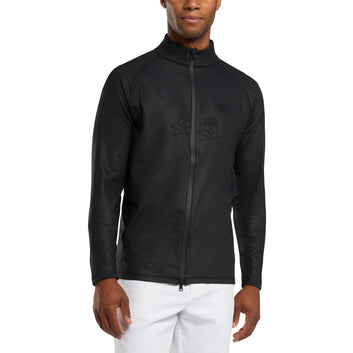 SKULL & T'S EMBOSSED FULL ZIP