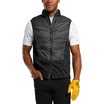 DOWN FILLED PANEL VEST