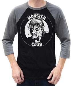 Monster Club Logo Baseball Tee