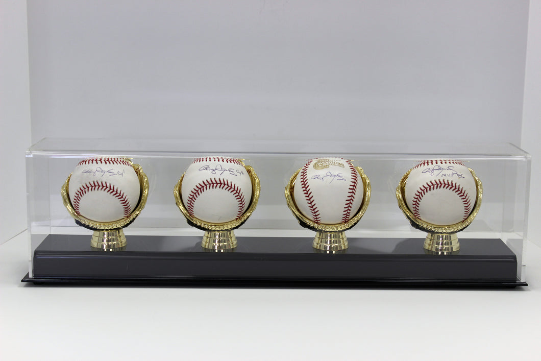 Display Case, Four Gold Glove Baseball Holder