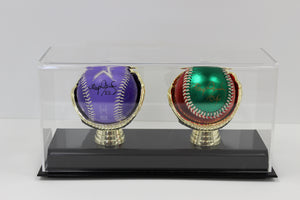 Display Case, Two Gold Glove Base Ball Holder