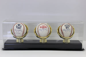 Display Case, Three Gold Glove Baseball Holder
