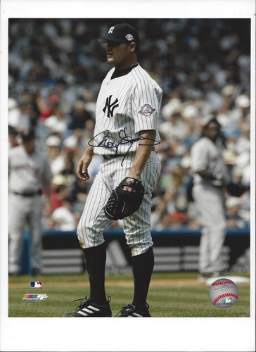 NY Yankees Standing in Pinstripes