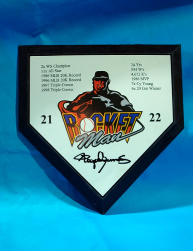 Rocketman Mini Home Plate with Stats