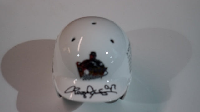 Rocketman White Mini Helmet with Stats