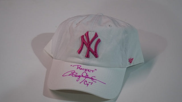 NY Yankees White Ladies Baseball Cap with Pink NY, CY7