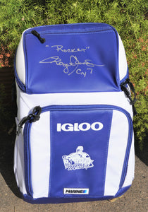 Roger Clemens Autographed Igloo Backpack
