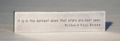 "Richard Paul Evans Quotation paperweight. ""Stars"""