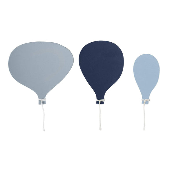Bloomingville Haken 3er Set Ballon in Blau