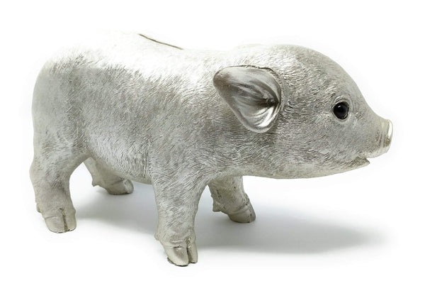 GIFTCOMPANY Sparschwein in Silber Metallic