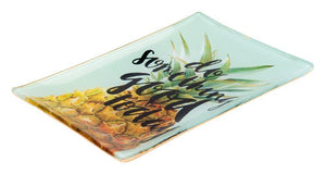 GIFTCOMPANY Tablett GIFTCOMPANY Ananas Tablett Porzellan