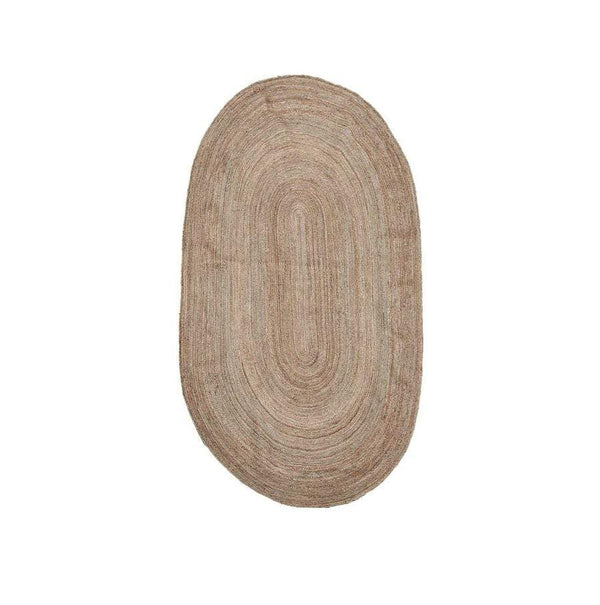 House Doctor Teppich Charco oval aus Jute, 150x90cm