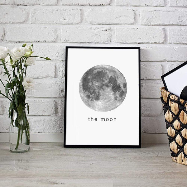 "LaLe Living Bild Leinwanddruck ""the moon"" A4 21x30cm"