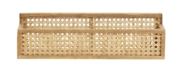 Nordal Wandregal Nordal Wandregal Shelfi aus Rattan , 13 x 46 cm