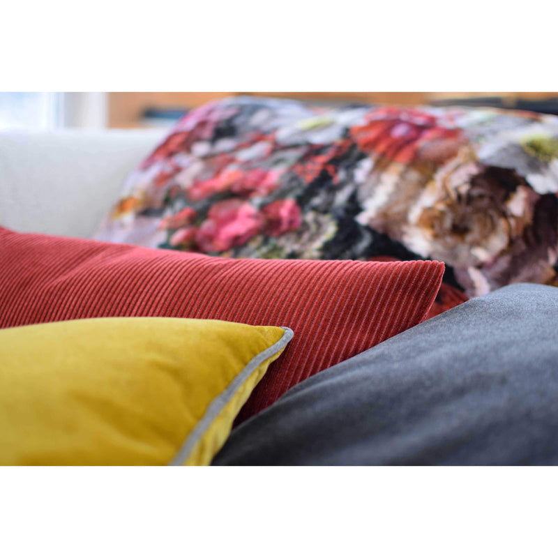 ROHLEDER HOME COLLECTION Kissen mit Füllung Lounge Coral - Crab im Cord-Look