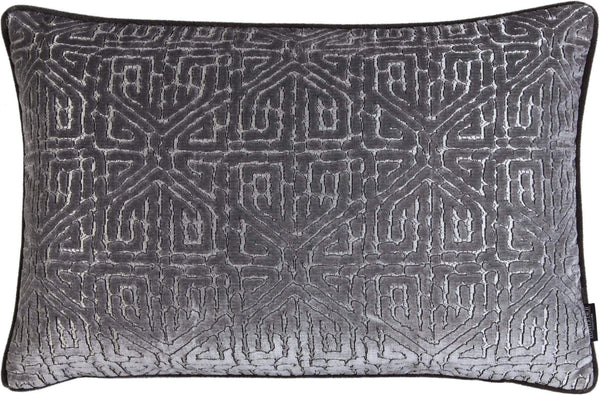 ROHLEDER HOME COLLECTION Creation Kissenhülle Maze - Grey Hellgrau