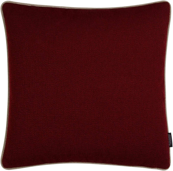 ROHLEDER HOME COLLECTION Ocean Kissenhülle Uni - Ruby Rot