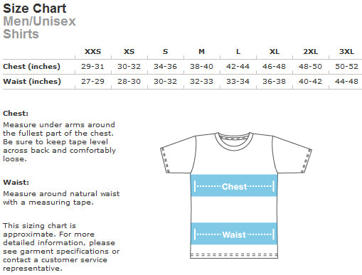 size chart mens all over tee