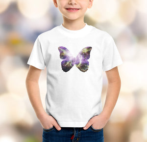 boys butterfly galaxy t-shirt design