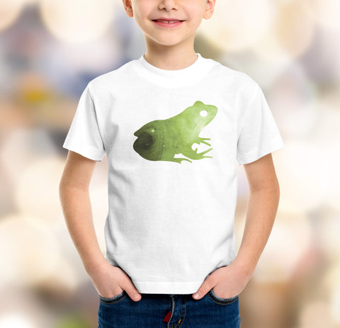 boys frog with galaxy t-shirt