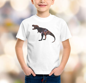 boys t-rex dinosaur galaxy t-shirt design