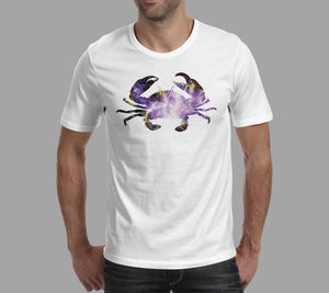 crab nebula galaxy design white t-shirt