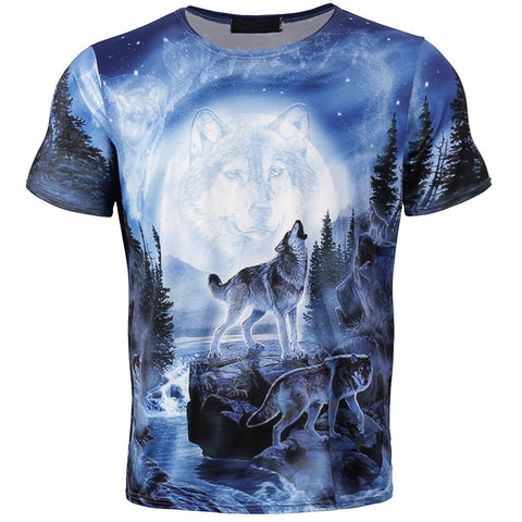 Men's All Over Printed Wolf T-Shirt