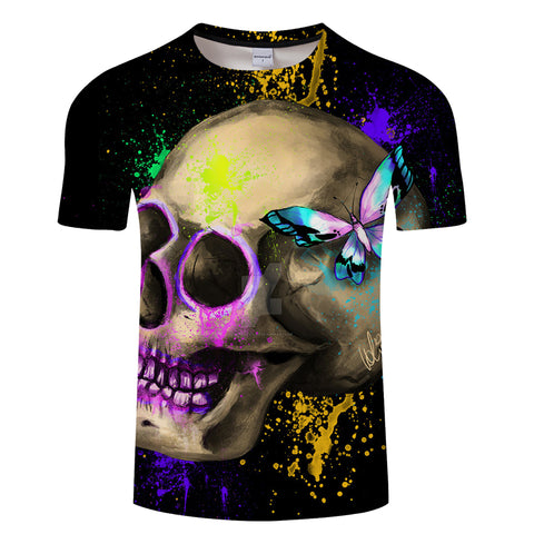 Men's Various All Over Printed Skull Designs T-Shirt