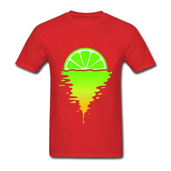Cool 80s Lime Sunset All Over Printed T Shirts Summer Casual Street Style Short Sleeve Top Tee Men US Size Young man blouse