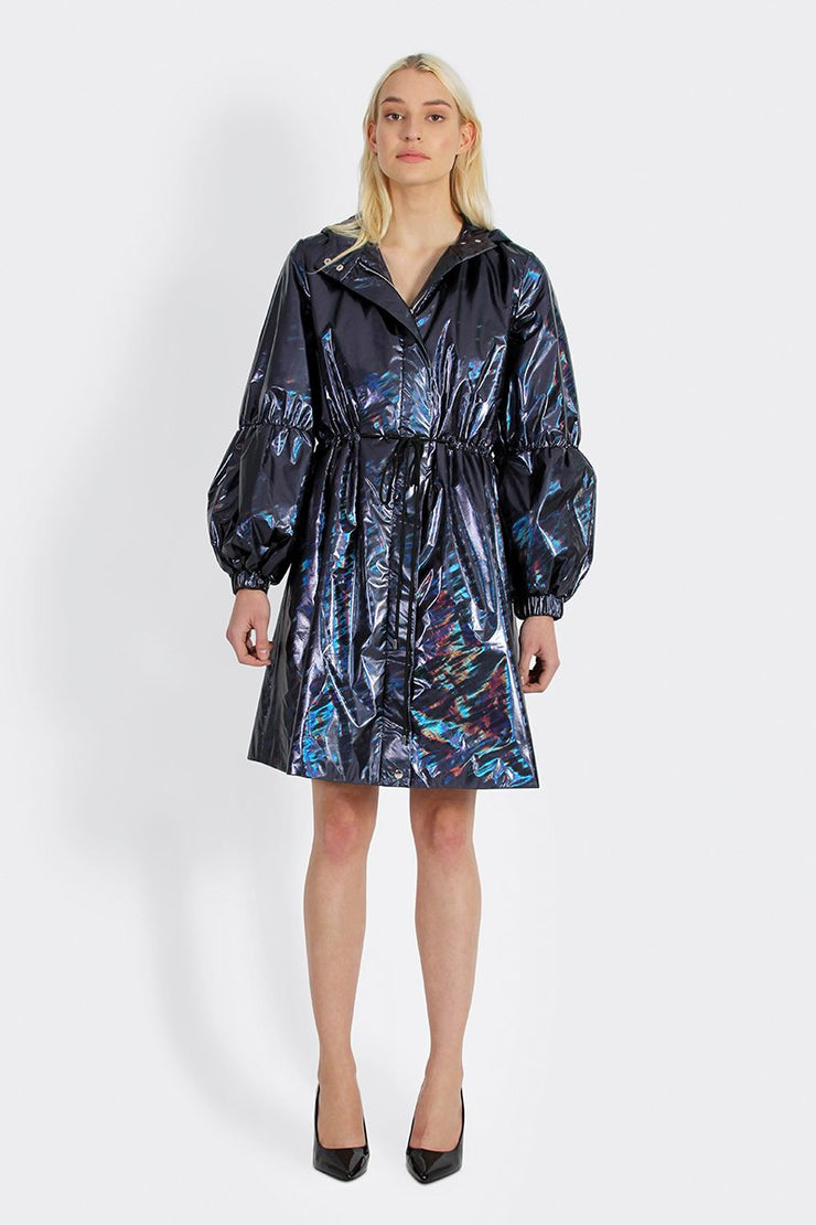 Siena Navy Metallic Coat