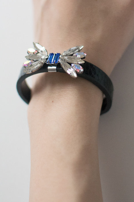 Butterfly Crystal Leather Bracelet , accessories - Trinity Styles, Trinity Styles  - 3