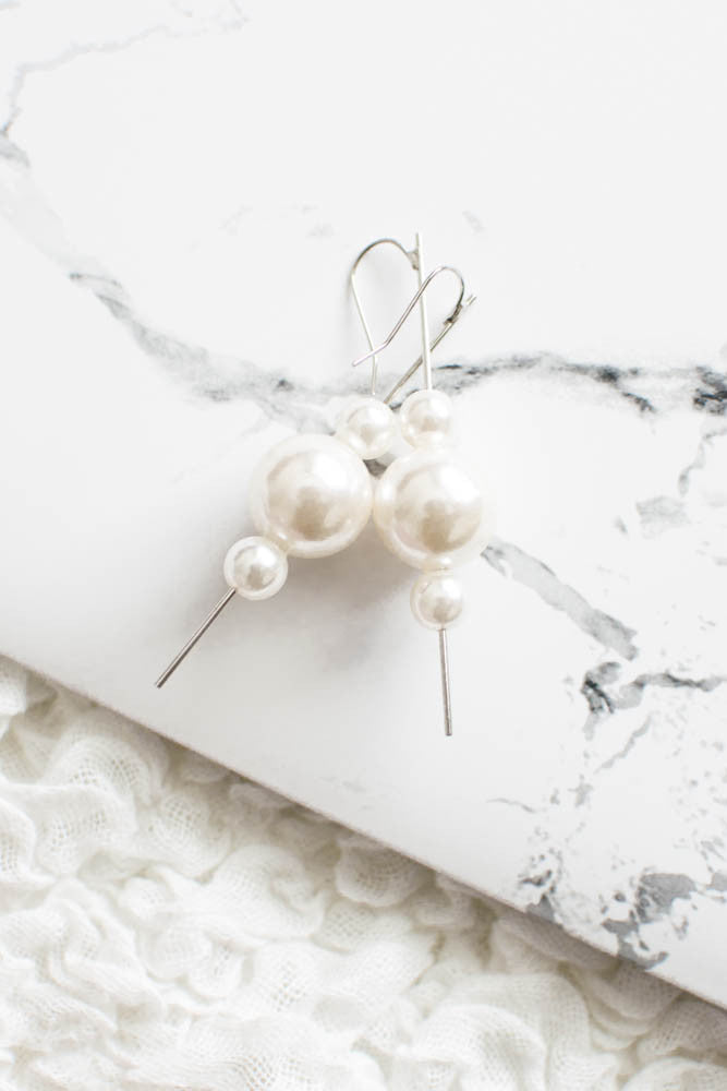 Pearl Droplet Earrings , accessories - Trinity Styles, Trinity Styles  - 1