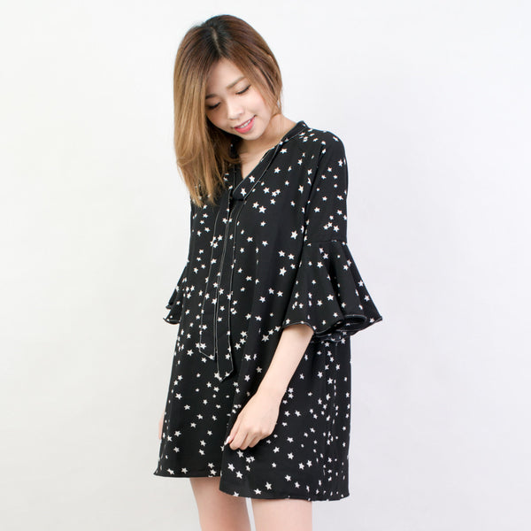 Starry Flounce Dress