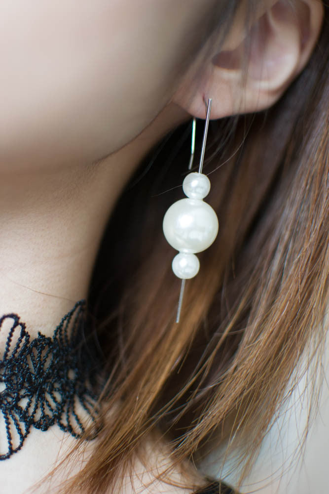 Pearl Droplet Earrings , accessories - Trinity Styles, Trinity Styles  - 2