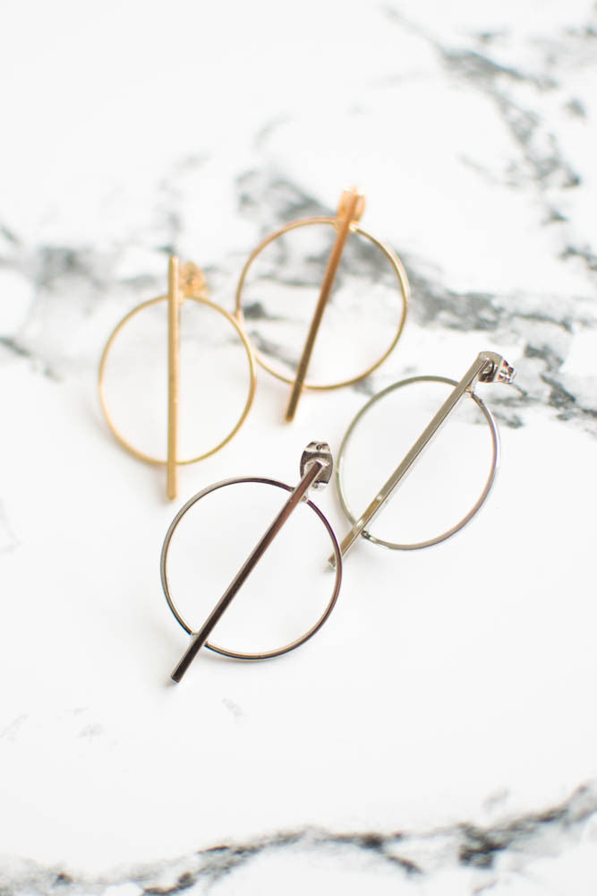 Minimal Circle Earrings , accessories - Trinity Styles, Trinity Styles  - 1
