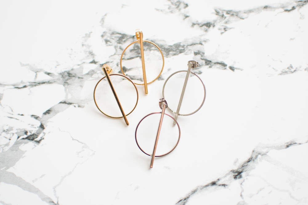 Minimal Circle Earrings , accessories - Trinity Styles, Trinity Styles  - 2