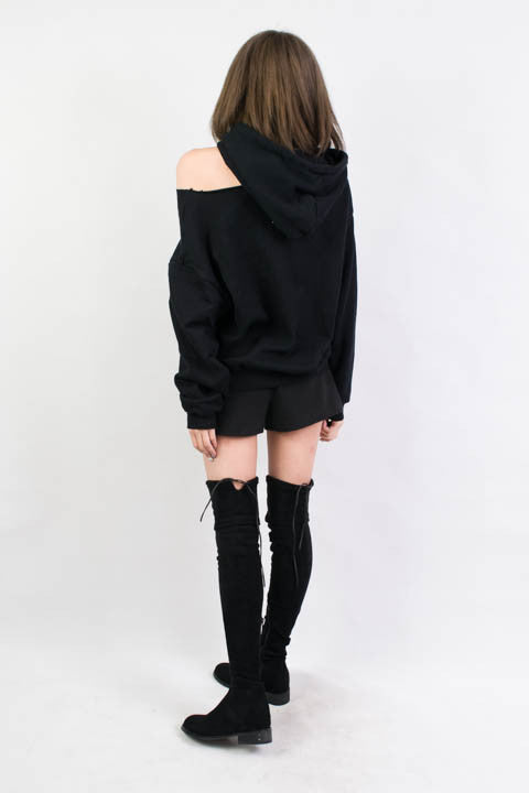 Ripped Hoodie , tops - Trinity Styles, Trinity Styles  - 3