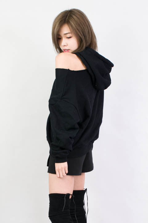 Ripped Hoodie , tops - Trinity Styles, Trinity Styles  - 1