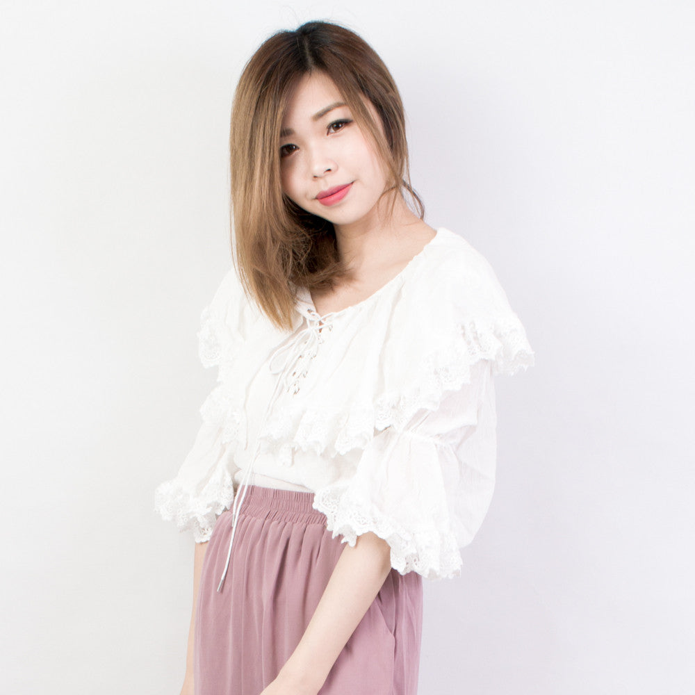 Lace and Frills Blouse