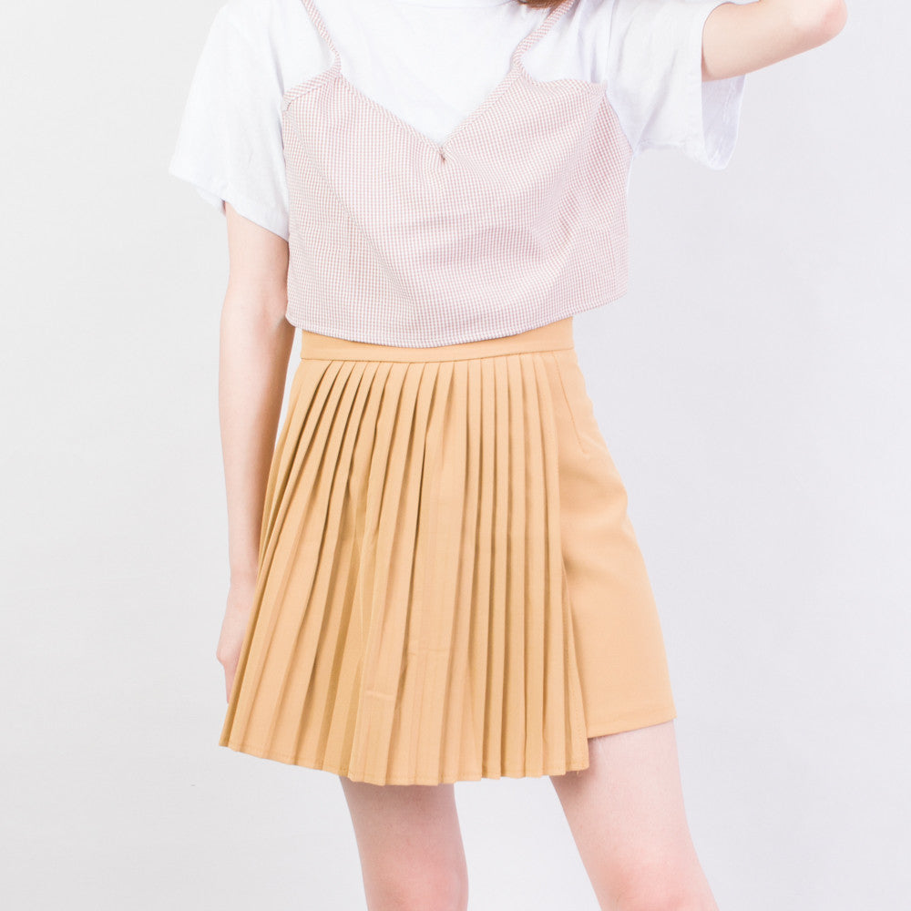 Half Pleated Skirt
