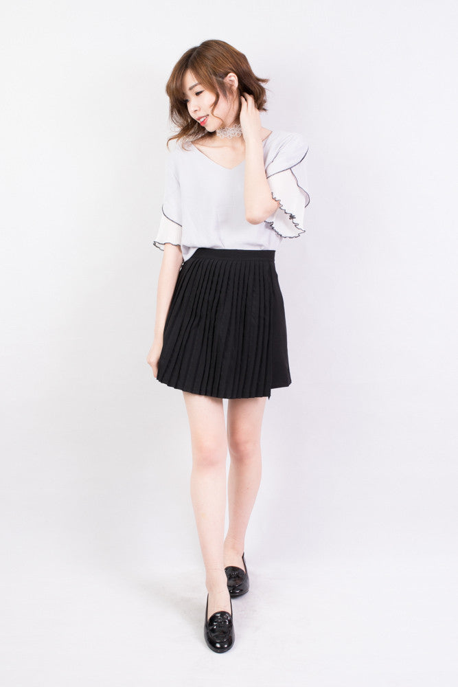 Half Pleated Skirt , bottoms - Trinity Styles, Trinity Styles  - 3