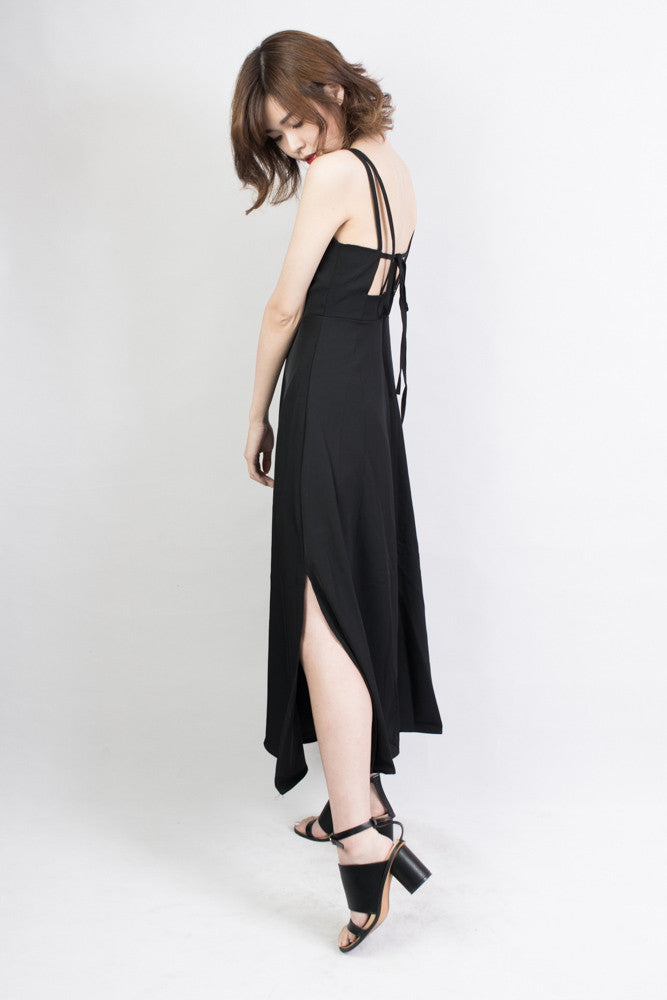 Cross Tie Maxi Dress