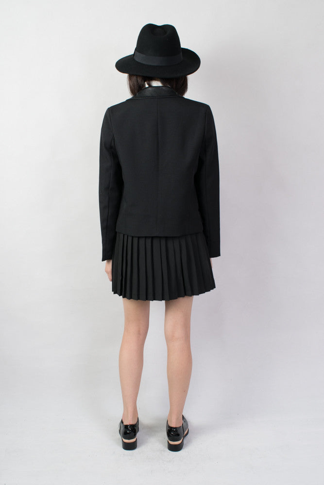 Leather Collar Blazer ,  - Trinity Styles, Trinity Styles  - 3