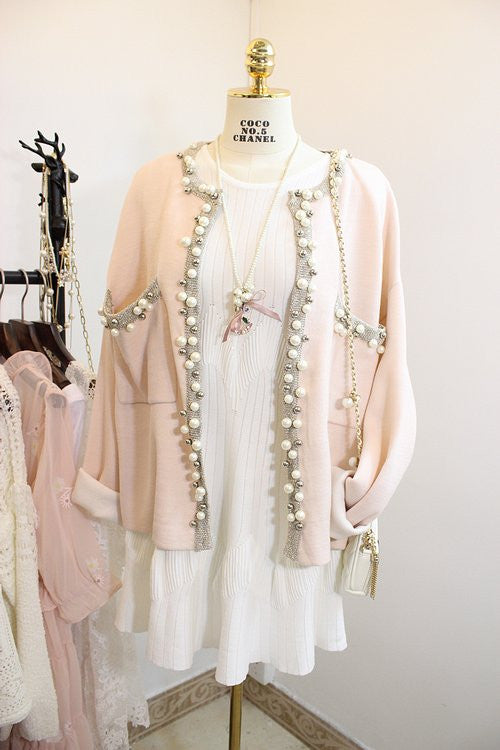 Coco Style Pearl Cardigan , Outerwear - Trinity Styles, Trinity Styles  - 1